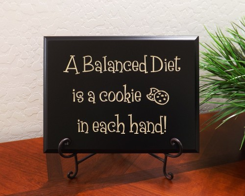 A Balanced Diet is a cookie in each hand!