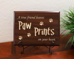 A true friend leaves Paw Prints on your heart.