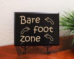 Bare foot zone