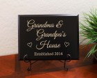 Personalized Grandma and Grandpa's House Established Year Sign