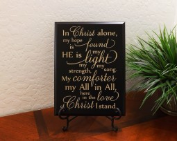 In Christ alone, my hope is found HE is my light my strength, my song. My comforter my All in All, here in the love of Christ I stand.