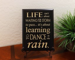 Life isn't about waiting for the storm to pass… it's about learning to dance in the rain.