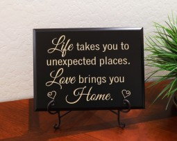 Life takes you to unexpected places. Love brings you Home.