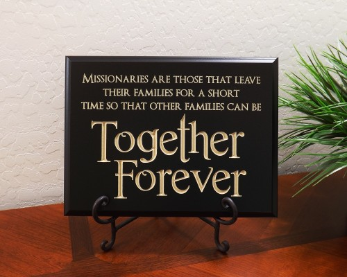 Missionaries are those that leave their families for a short time so that other families can be together forever