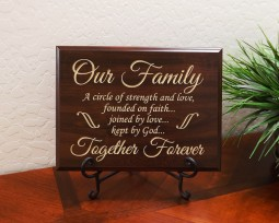 Our Family A circle of strength and love, founded on faith… joined by love… kept by God… Together Forever