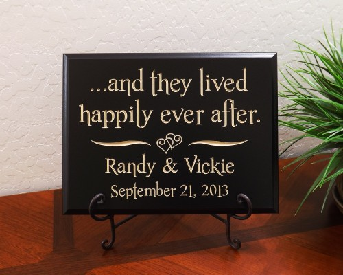 Personalized ...and they lived happily ever after. Names Date
