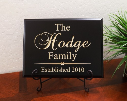 Personalized Family Established Year Brock Font