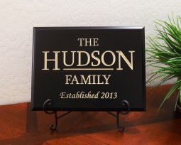 Personalized Family Established Year with Dividing Line
