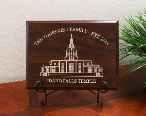 Personalized Family Established Year Idaho Falls LDS Temple