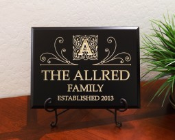 Personalized Monogram Family Established Year