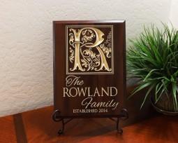 Personalized Large Monogram Family Established Year
