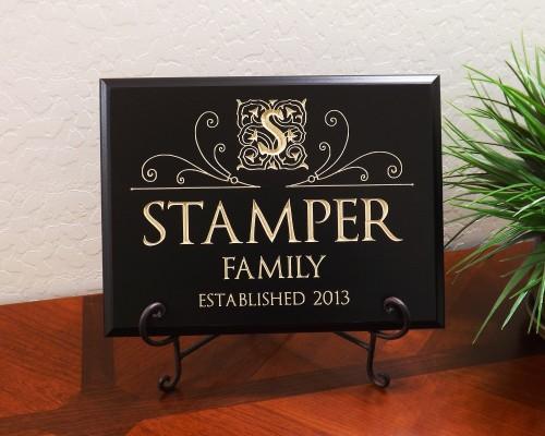 Personalized Monogram Optimus Font Family Established Year