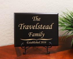 Personalized Family Established Year Monotype Font