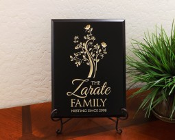 Personalized Tall Tree Family Name Nesting Since Year Established