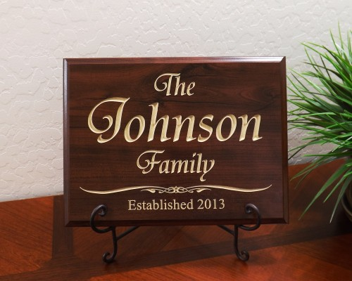 Personalized Family Established Year Tiranti Font