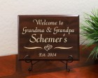 Personalized Welcome to Grandma and Grandpa Last Name Est. Year