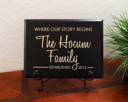 Personalized Where our story begins Family Name Year Established