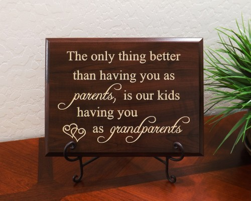 The only thing better than having you as parents, is our kids having you as grandparents